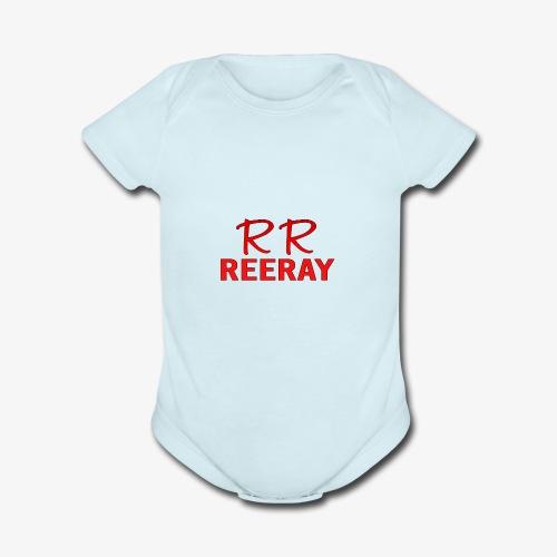 ReeRay YouTube Channel Logo - Organic Short Sleeve Baby Bodysuit