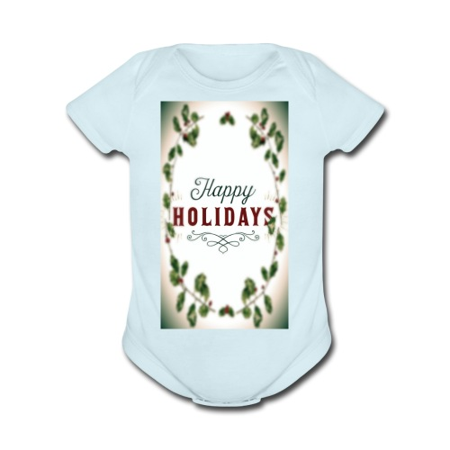 Happy holidays - Organic Short Sleeve Baby Bodysuit