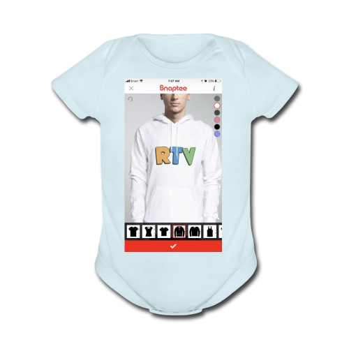 C7251822 7B0B 4B38 9EF3 3465DBCAA008 - Organic Short Sleeve Baby Bodysuit