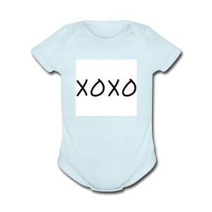XOXO - Short Sleeve Baby Bodysuit