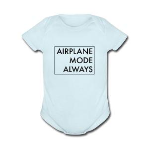 Airplane Mode - Short Sleeve Baby Bodysuit