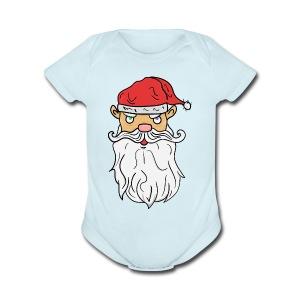 Bad Santa! - Short Sleeve Baby Bodysuit