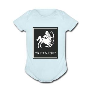 Sagittarius Zodiac Symbol - Short Sleeve Baby Bodysuit