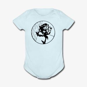BlackFlower - Short Sleeve Baby Bodysuit