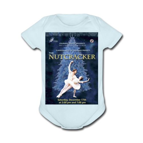 CBC Nutcracker Product - Organic Short Sleeve Baby Bodysuit