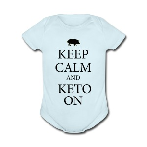 Keto keep calm2 - Short Sleeve Baby Bodysuit