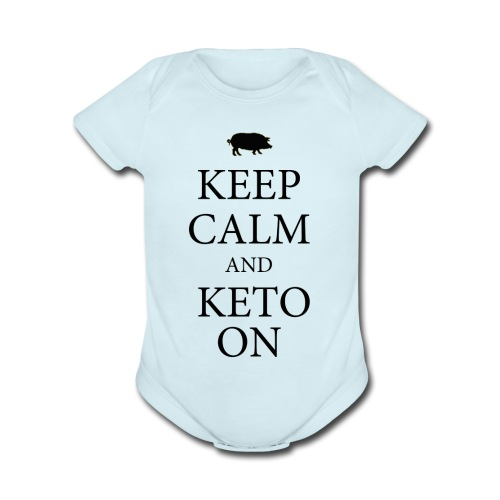 Keto keep calm2 - Organic Short Sleeve Baby Bodysuit