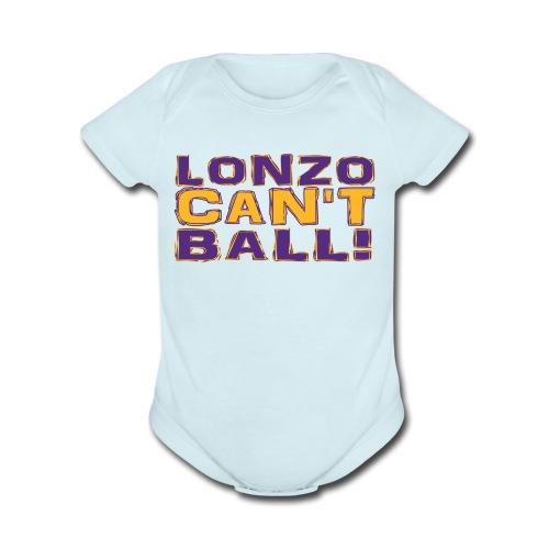 Lonzo Can't Ball - Organic Short Sleeve Baby Bodysuit