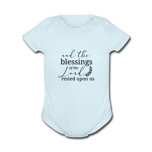 Count Your Blessings - Organic Short Sleeve Baby Bodysuit