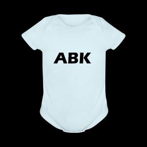 ABK Black - Short Sleeve Baby Bodysuit