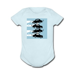 cars in the city - Short Sleeve Baby Bodysuit
