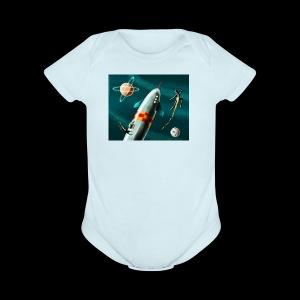 Rockets and Jetpacks - Short Sleeve Baby Bodysuit