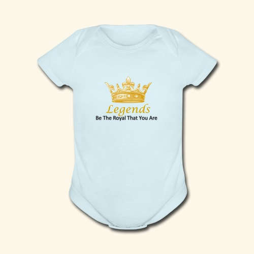 Royal Legends - Organic Short Sleeve Baby Bodysuit