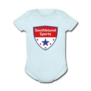 Southbound Sports Crest Logo - Short Sleeve Baby Bodysuit