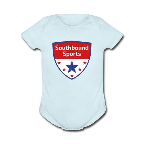 Southbound Sports Crest Logo - Organic Short Sleeve Baby Bodysuit