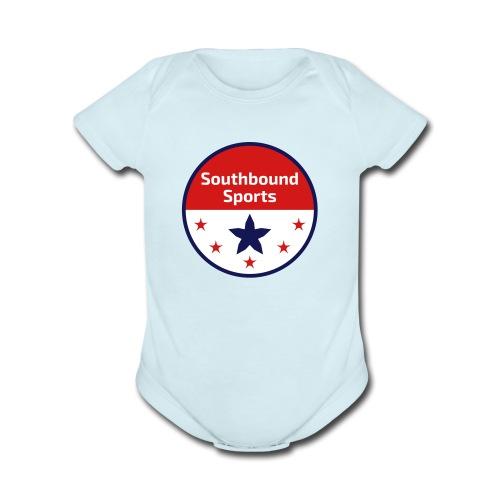 Southbound Sports Round Logo - Organic Short Sleeve Baby Bodysuit