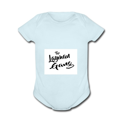 The layman gang shirt - Organic Short Sleeve Baby Bodysuit