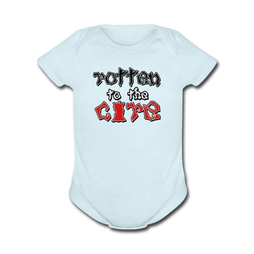 Rotten To The Core - Organic Short Sleeve Baby Bodysuit