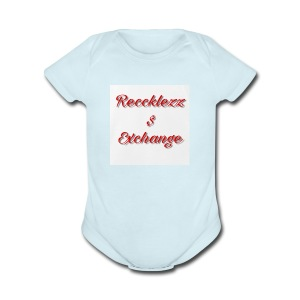 Reccklezz Exchange red - Short Sleeve Baby Bodysuit