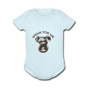 Speak for Me - Short Sleeve Baby Bodysuit