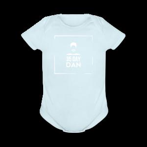 35DD Male White - Short Sleeve Baby Bodysuit