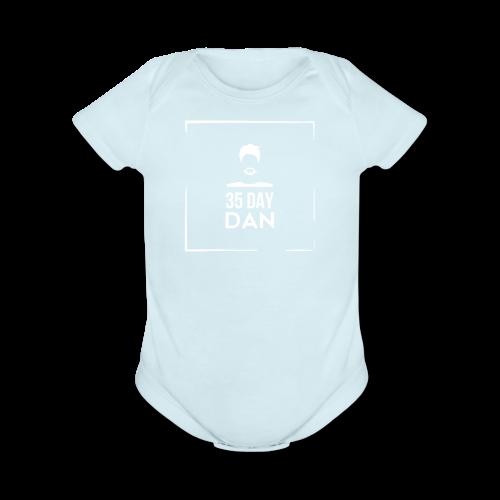 35DD Male White - Organic Short Sleeve Baby Bodysuit