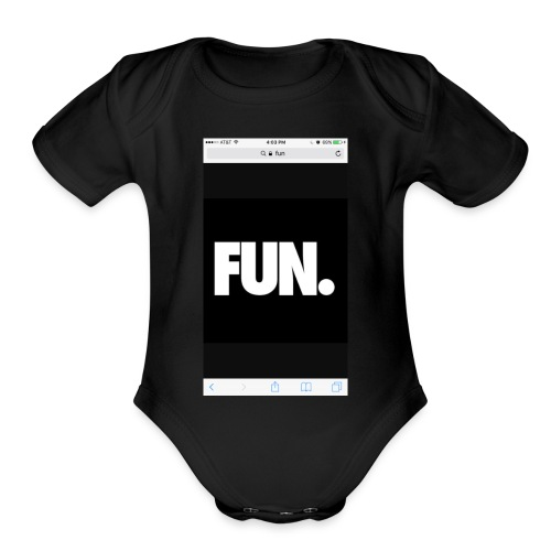 014Kadin fun - Organic Short Sleeve Baby Bodysuit