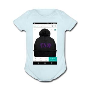 TSN beanie - Short Sleeve Baby Bodysuit