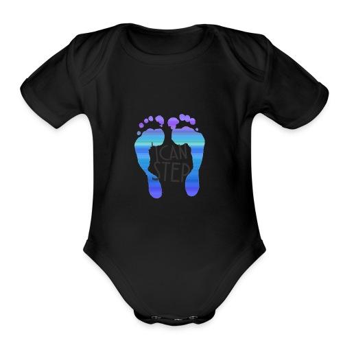 I.C.A.N.S.T.E.P. MOTTO - Organic Short Sleeve Baby Bodysuit