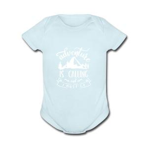 Adventure is Calling Tshirt - Short Sleeve Baby Bodysuit