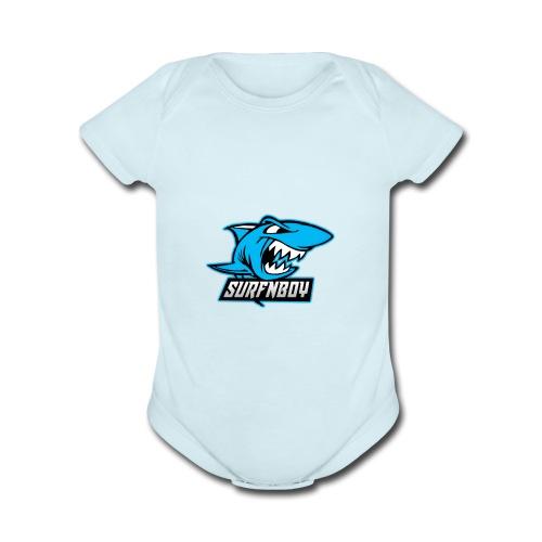 Surfnboy Mascot - Organic Short Sleeve Baby Bodysuit
