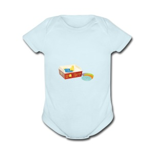 Toy Record Player - Short Sleeve Baby Bodysuit