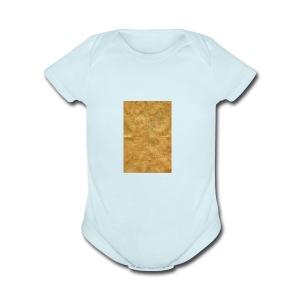 golden block rock - Short Sleeve Baby Bodysuit