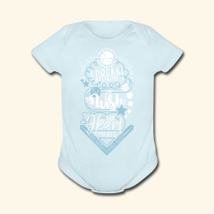 A Dream Is A Wish - Short Sleeve Baby Bodysuit