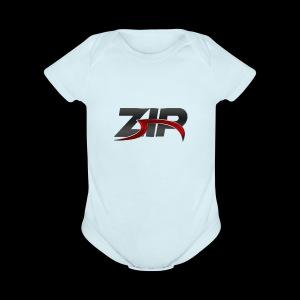 ZIP - Short Sleeve Baby Bodysuit