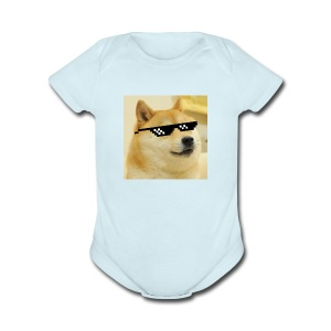 MLG DOGE - Short Sleeve Baby Bodysuit