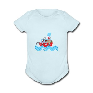 CATS ON VACATION for Kids - Short Sleeve Baby Bodysuit