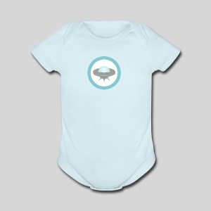 ALIENS WITH WIGS - Small UFO - Short Sleeve Baby Bodysuit