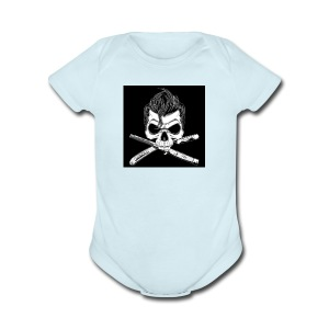 Greaser skull - Short Sleeve Baby Bodysuit