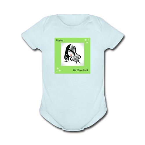 Belle-7- - Organic Short Sleeve Baby Bodysuit