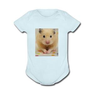 My little hamster world - Short Sleeve Baby Bodysuit