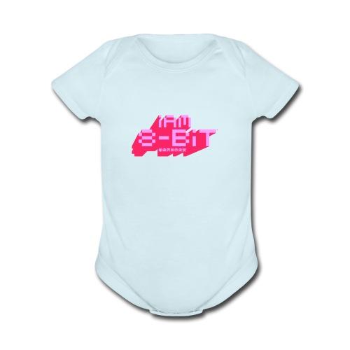 8-bit-flyer - Organic Short Sleeve Baby Bodysuit