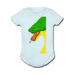 Cool snake - Short Sleeve Baby Bodysuit