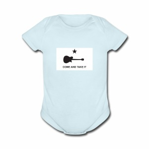 Come And Take It Guitar - Short Sleeve Baby Bodysuit