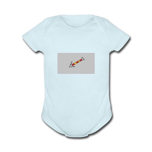 Arrow 4 - Organic Short Sleeve Baby Bodysuit