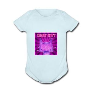 CuddlyKitty Picture - Short Sleeve Baby Bodysuit