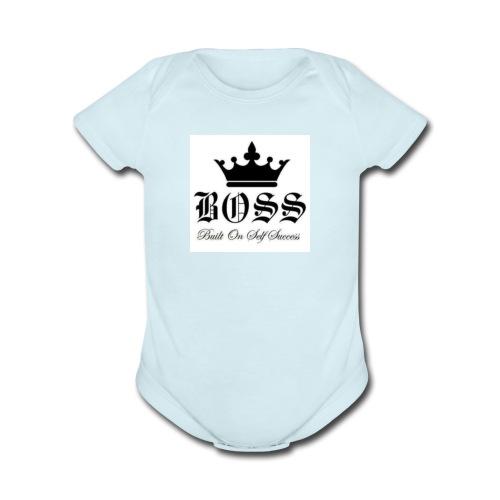 Boss t-shirt - Organic Short Sleeve Baby Bodysuit