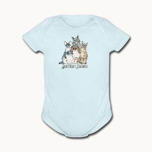 CATS - SENTIENT BEINGS - Carolyn Sandstrom - Short Sleeve Baby Bodysuit