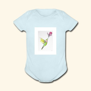 Hummingbird Moment - Short Sleeve Baby Bodysuit