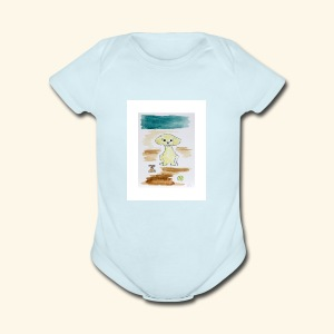 Traver and His Dog - Short Sleeve Baby Bodysuit